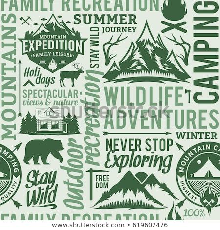 露營 探險者 模式 設計 戶外活動 冒險 商業照片 © JeksonGraphics