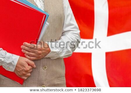 Carpeta bandera Dinamarca archivos aislado blanco Foto stock © MikhailMishchenko