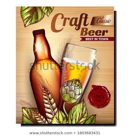 Beber vidrio oktoberfest promoción anunciante Foto stock © robuart
