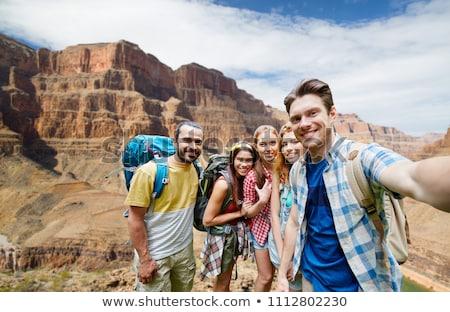 笑顔の女性 リュックサック グランドキャニオン 冒険 旅行 観光 ストックフォト © dolgachov