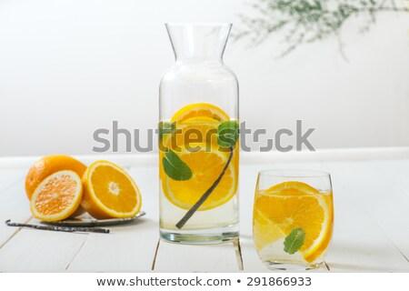 Lemon and orange infused water Stock photo © Lana_M