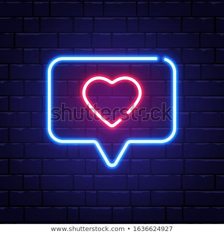 Love Speech Bubble Neon Sign Stock photo © Anna_leni
