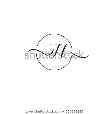 Logotipo carta magenta preto ícone vetor Foto stock © blaskorizov