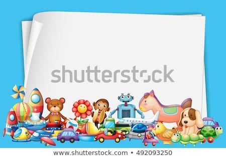 mono · papel · en · blanco · plantilla · ilustración · papel · resumen - foto stock © colematt