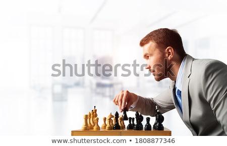 Gente de negocios jugando ajedrez Foto negocios hombre Foto stock © Kzenon