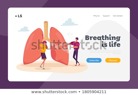Stock photo: Obstructive pulmonary disease concept landing page.