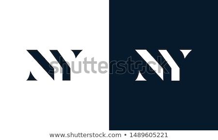 ny letter n and y logo vector icon symbol Stock photo © blaskorizov