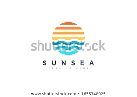 güneş · deniz · turizm · ikon · dizayn · soyut - stok fotoğraf © blaskorizov
