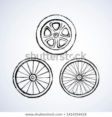 Round trip hand drawn outline doodle icon. Stock photo © RAStudio