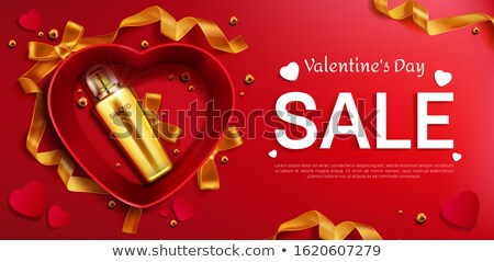 Beauty Sale template with cosmetic products, gift boxes, ads streamers. Modern design vector illustr Stock photo © ikopylov
