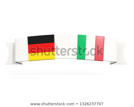 Banner with two square flags of Germany and italy Stock photo © MikhailMishchenko