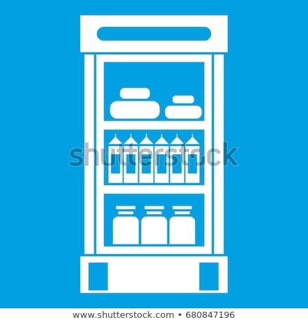 Supermarket refrigerator showcase icon Stock photo © angelp