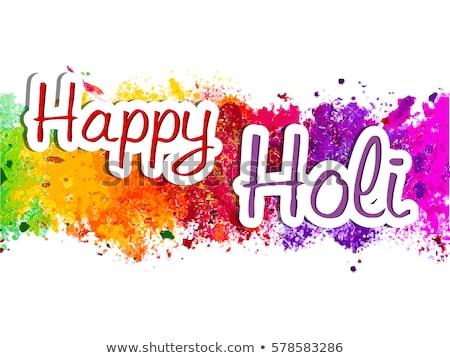 gelukkig · festival · indian · kleuren · ontwerp · banner - stockfoto © sarts