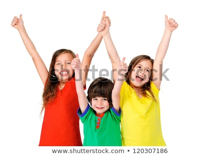 Happy young family with little kids having fun together in the p Stock photo © dashapetrenko