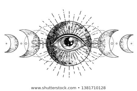 Сток-фото: Color vintage magic esoteric emblem