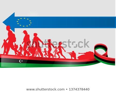 Mensen Europa illustratie immigratie familie recht Stockfoto © doomko