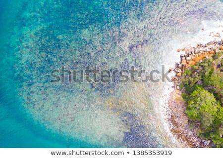 синий · Карибы · воды · океана · рай · утес - Сток-фото © lovleah