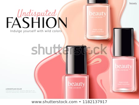 Bottle Of Pink Nail Polish Female Cosmetic Vector Stock photo © pikepicture