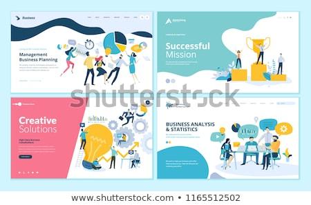 Klienta stosunku zarządzania app interfejs szablon Zdjęcia stock © RAStudio