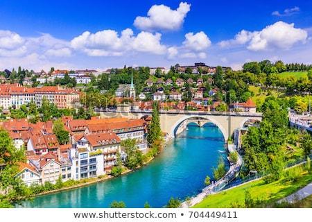 Svizzera view città vecchia ponte fiume casa Foto d'archivio © borisb17