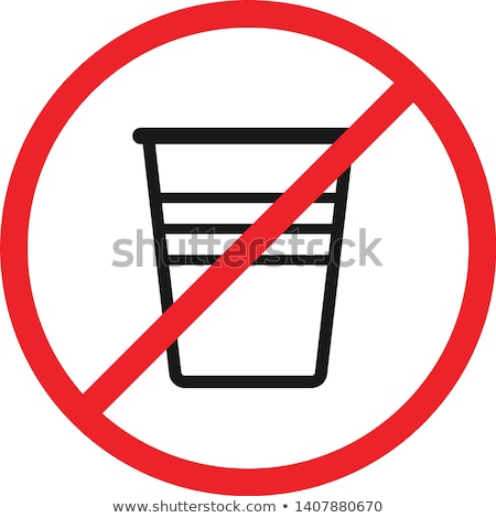 plastic cup prohibition sign Stock photo © romvo