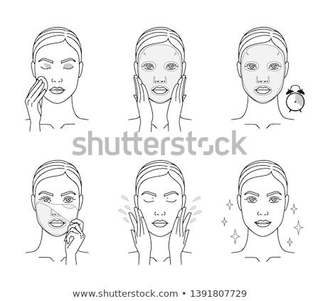 Woman Head With Moisturizing Mask Icon Stock photo © angelp