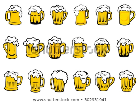 Mug Beer with Froth Vector Cold Refreshing Drink Stock photo © robuart