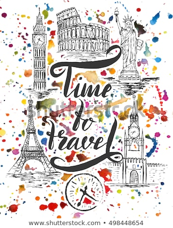 Time to Travel Landmarks of World, Paris London Stock photo © robuart