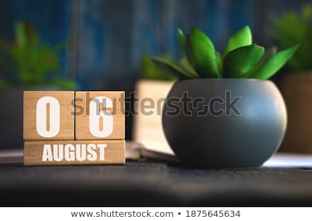 Cubes calendar 6th August Stock photo © Oakozhan