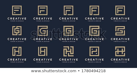 Abstract Square Geometric identity Logo Design Template with circled lines inside. Creative Square C Stock photo © kyryloff
