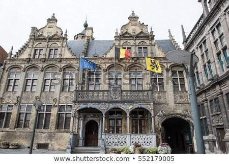 Prefeitura Bélgica cidade ouvir central mercado Foto stock © borisb17