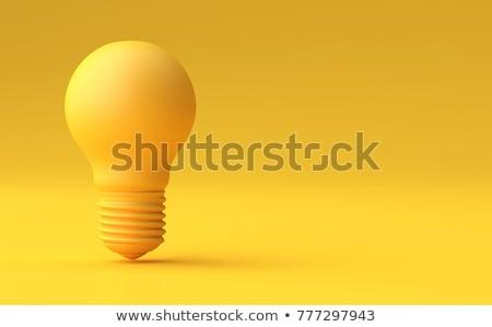 Sarı ampul yansıma yalıtılmış beyaz Metal Stok fotoğraf © ajn
