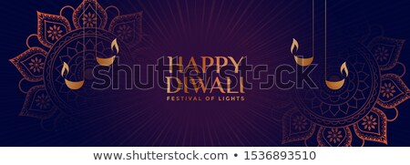 Stijl gelukkig diwali banner ontwerp Stockfoto © SArts