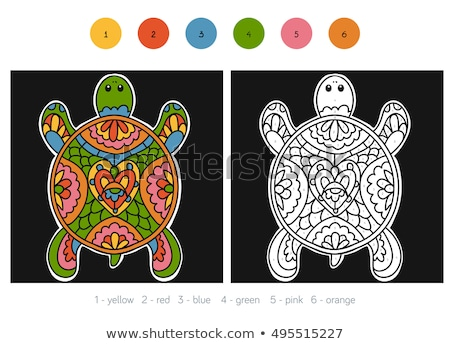 fill the pattern game for kids coloring book Stock photo © izakowski