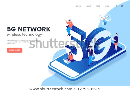 5G Network Wireless Technology Vector Illustration. Web Page Template. Stock photo © tashatuvango