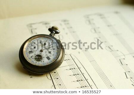 Antik zsebóra zene lap óra játék Stock fotó © johnkwan
