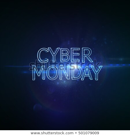 Cyber Monday Promotional Poster with Pricetag Stock photo © robuart