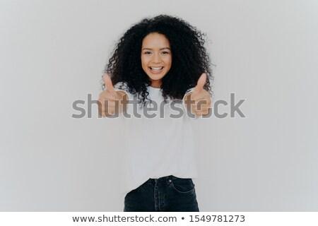 счастливым афро прическа устрашающий Сток-фото © vkstudio