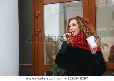 Imagem senhora bebidas café chá Foto stock © vkstudio