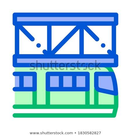 公共交通機関 鉄道 ベクトル アイコン 薄い 行 ストックフォト © pikepicture