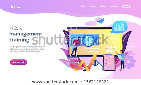 Risk Management - Web Template in Trendy Colors. Stock photo © tashatuvango