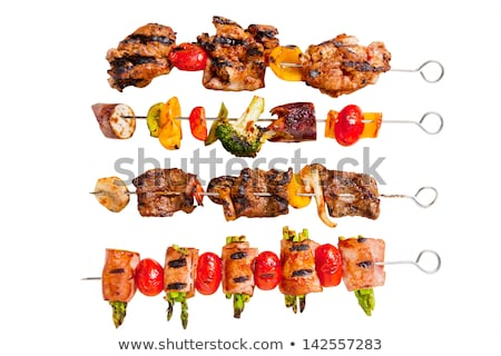 Sulu dilimleri et sos yangın gıda Stok fotoğraf © alexandkz