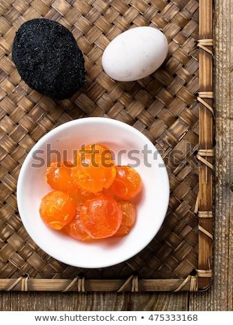 Rustiek chinese gezouten ei eierdooier Stockfoto © zkruger