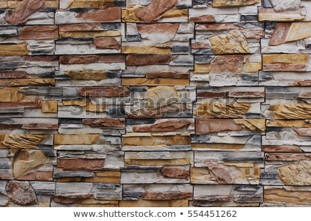 Multi-colored stone wall background Stock photo © bobkeenan
