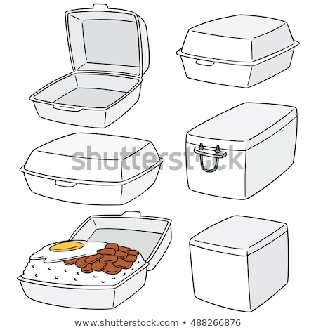 vector set of plastic object and foam box Stock photo © olllikeballoon