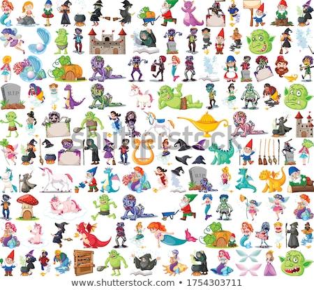 Establecer fantasía Cartoon aislado blanco Foto stock © bluering