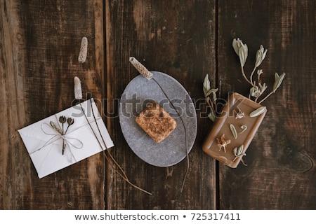 Handgemaakt zeep weinig bloem gras schoonheid Stockfoto © Ansonstock
