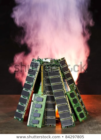 Alevler bellek yanan duman enerji geri dönüşüm Stok fotoğraf © gewoldi