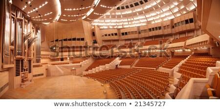 Panorama vuota concerto sala organo interni Foto d'archivio © Paha_L