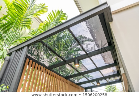 Stock photo: glass roof detail